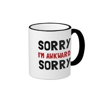 Sorry Awkward Ringer Mug