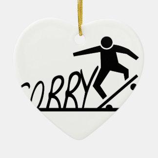 sorry ceramic heart ornament