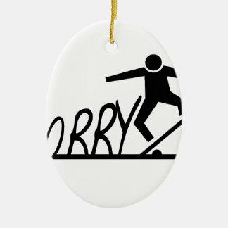 sorry ceramic oval ornament