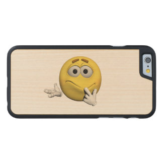 Sorry emoticon carved maple iPhone 6 case