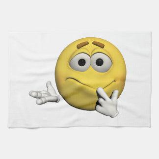 Sorry emoticon kitchen towel