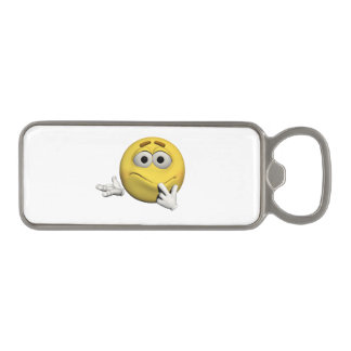 Sorry emoticon magnetic bottle opener