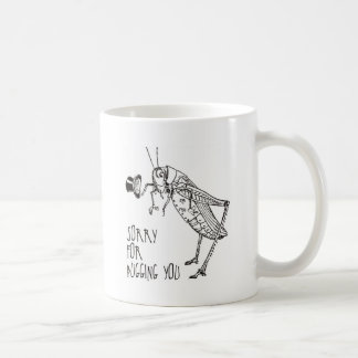 Sorry for bugging: Vintage grasshopper / cricket Coffee Mug