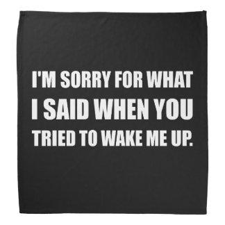 Sorry For What Said Wake Up Bandana