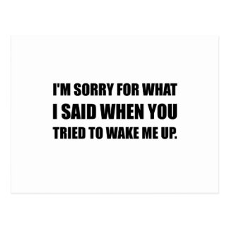 Sorry For What Said Wake Up Postcard
