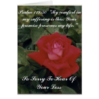 Sorry For Your Loss - Customized Greeting Card
