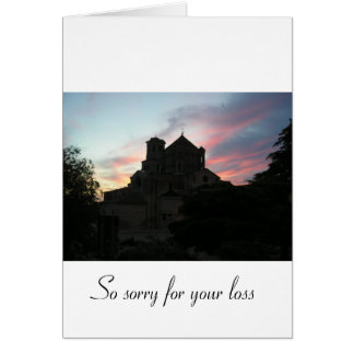 Sorry for your loss [from an individual] greeting card