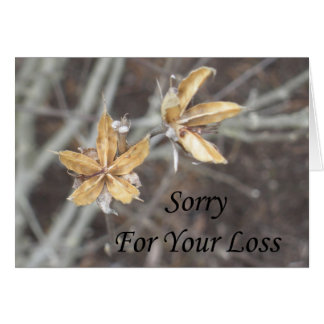 Sorry For Your Loss - Nature Greeting Card