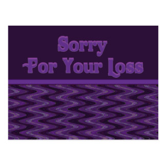 Sorry for your loss postcard