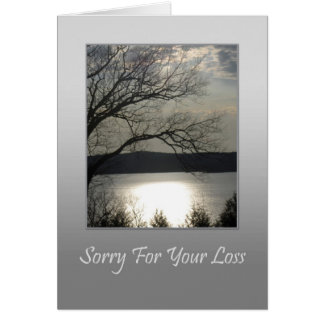Sorry For Your Loss - Sunset Lake Greeting Card