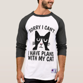 SORRY I CAN'T I HAVE PLANS. WITH CAT, Panda Kitty T-Shirt