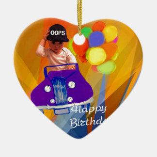 Sorry I forgot your birthday. Ceramic Heart Ornament