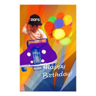 Sorry I forgot your birthday. Customized Stationery