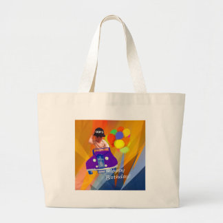 Sorry I forgot your birthday. Large Tote Bag