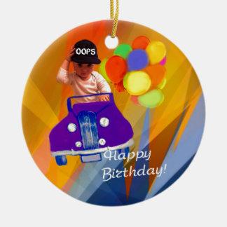 Sorry I forgot your birthday. Round Ceramic Ornament