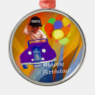 Sorry I forgot your birthday. Silver-Colored Round Ornament