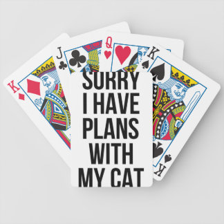 Sorry I Have Plans with my Cat Bicycle Playing Cards