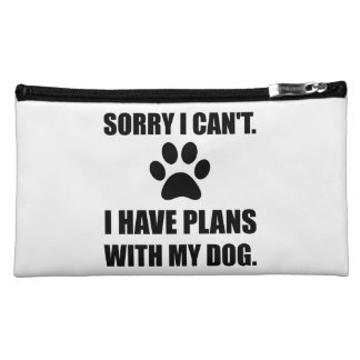 Sorry I Have Plans With My Dog Funny Makeup Bag