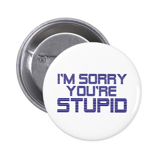 Sorry Ice Pinback Buttons