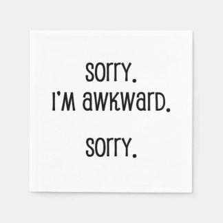 Sorry I'm Awkward Paper Napkins