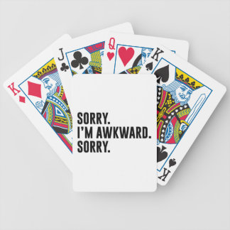 Sorry I'm Awkward Sorry Bicycle Playing Cards