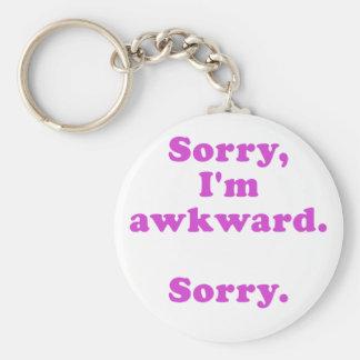 Sorry Im Awkward Sorry Keychain