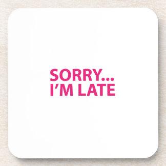Sorry I'm barks Beverage Coaster
