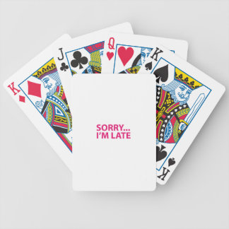 Sorry I'm barks Bicycle Playing Cards