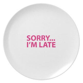 Sorry I'm barks Plate