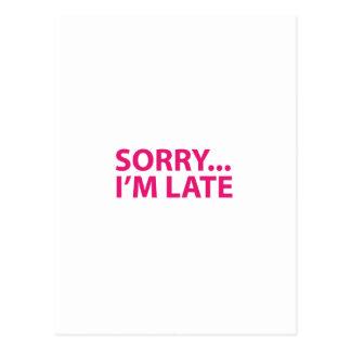 Sorry I'm barks Postcard