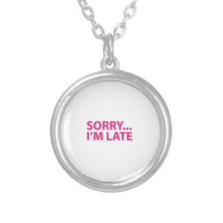 Sorry I'm barks Silver Plated Necklace