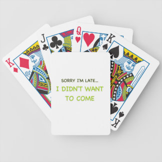 Sorry I'm Late Bicycle Playing Cards