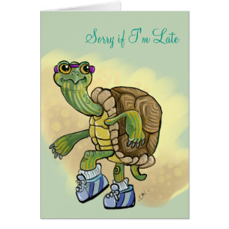 Sorry I'm Late Turtle in Sneakers Card