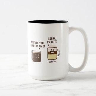 Sorry, I'm Latte Two-Tone Coffee Mug