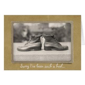 Sorry I've Been a Heel Relationship Repair Custom Card