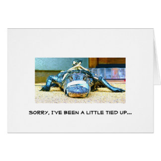 Sorry, I've been a little tied up... Card