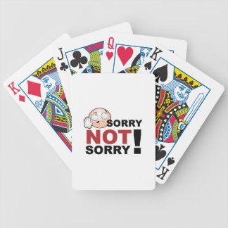 Sorry Not Sorry Cartoon Character Bicycle Playing Cards