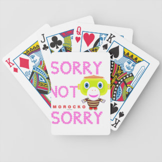 Sorry Not Sorry-Cute Monkey-Morocko Bicycle Playing Cards