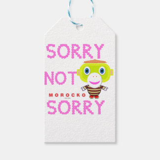 Sorry Not Sorry-Cute Monkey-Morocko Gift Tags