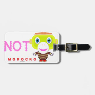 Sorry Not Sorry-Cute Monkey-Morocko Luggage Tag