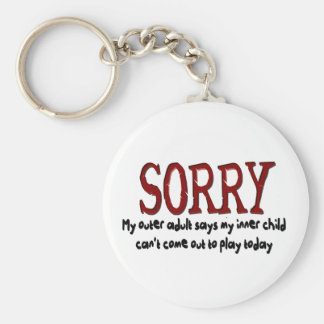 Sorry Outer Adult and Inner Child Basic Round Button Keychain