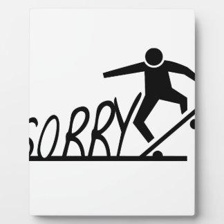 sorry plaque