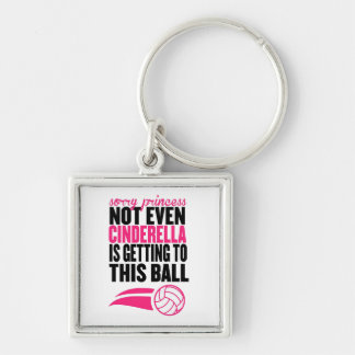 Sorry Princess Volleyball Ball` Keychain