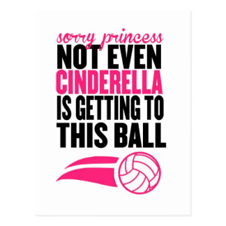 Sorry Princess Volleyball Ball` Postcard