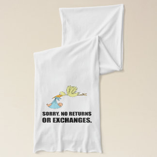 Sorry Returns Exchanges Stork Baby Scarf