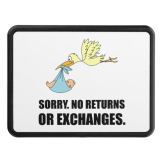Sorry Returns Exchanges Stork Baby Trailer Hitch Cover