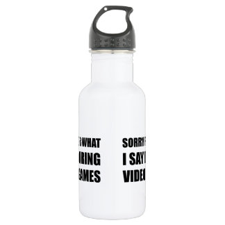 Sorry Say Video Games 532 Ml Water Bottle