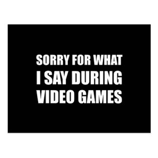 Sorry Say Video Games Postcard