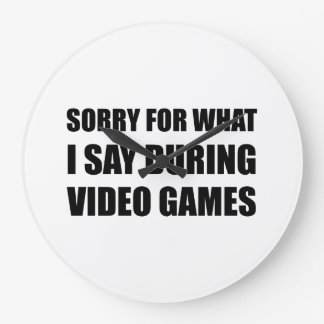 Sorry Say Video Games Wall Clock