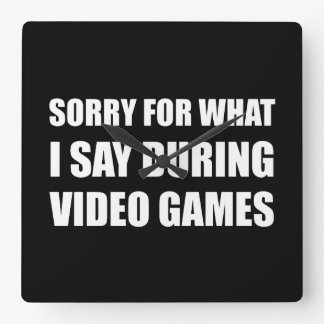 Sorry Say Video Games Wall Clocks